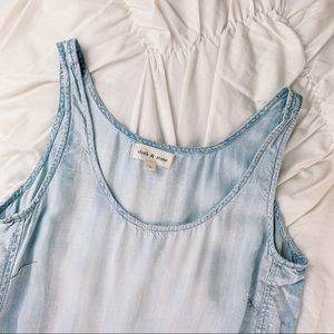 Cloth & Stone ~ chambray romper size Small